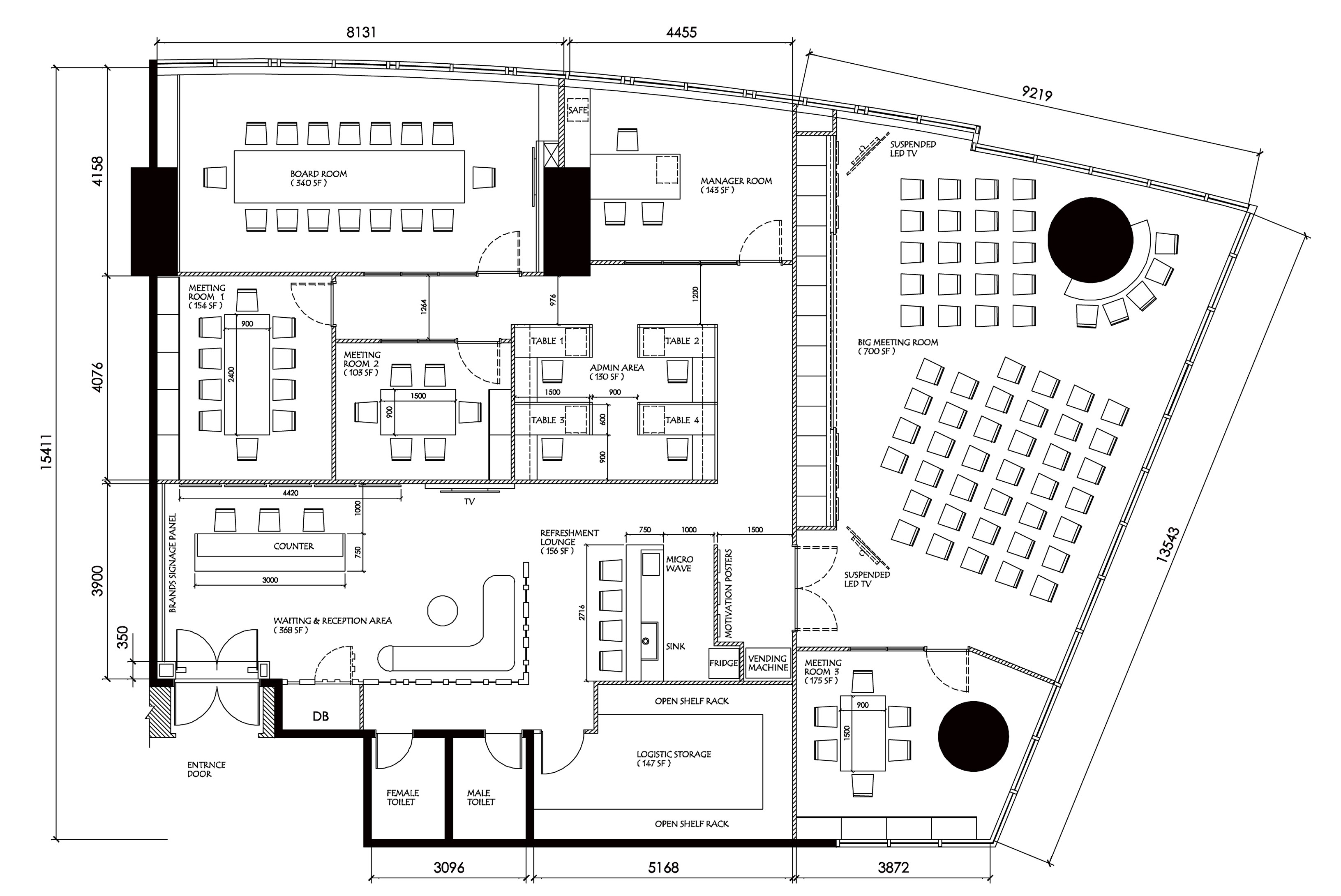 Furniture Layout Plan » Fabron Design   Interior Design Drawings Service  Online