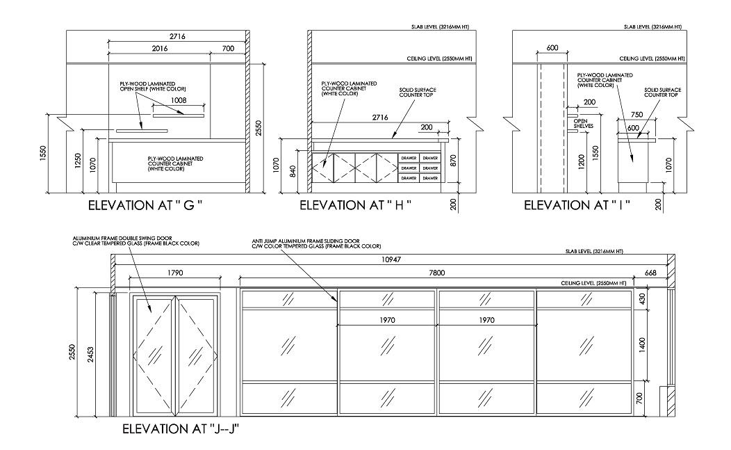 Interior Design Details Drawings